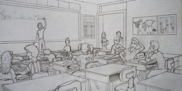 Sketch of classroom