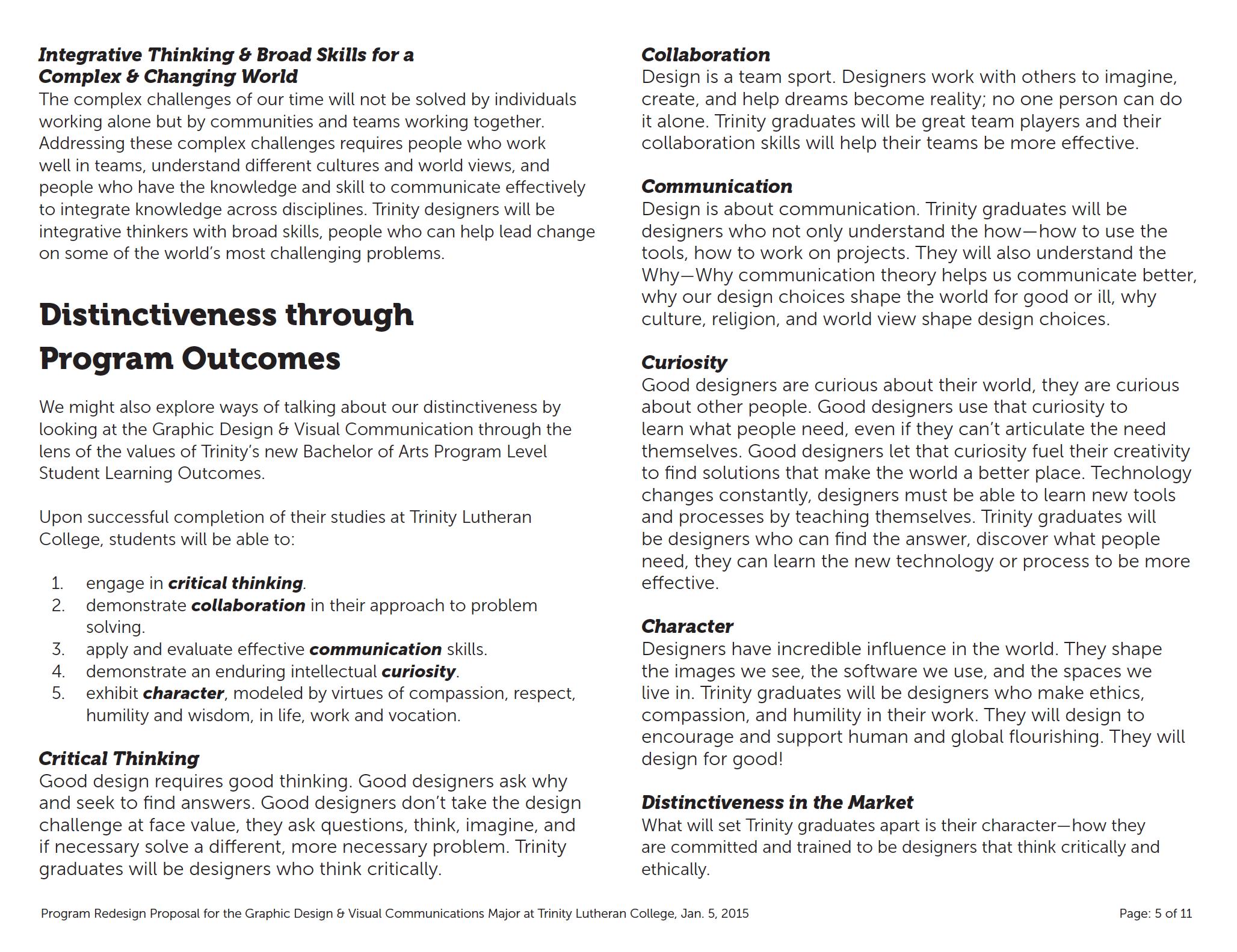 designing higher ed design innovation for learning program documentation cover program documentation interior